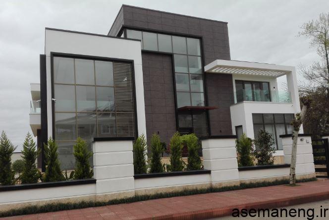 طراحی نمای شیشه ای ساختمان